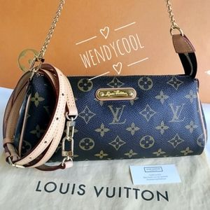 LOUIS VUITTON Monogram Eva Clutch Adjustable Strap